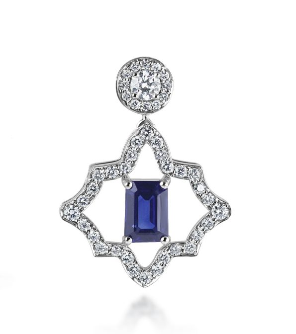 KATA Jewellery - Dalia Earrings - Sapphire & Diamond