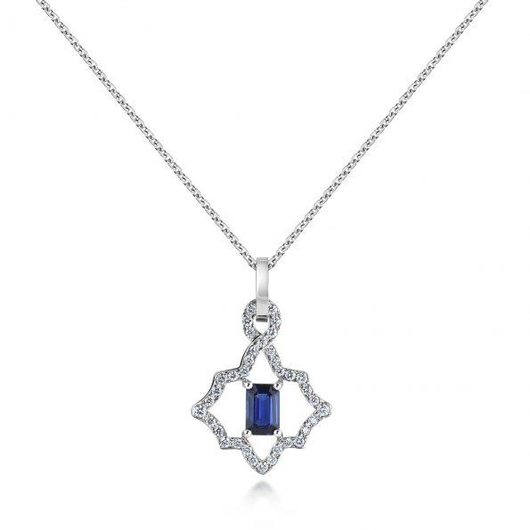 KATA Jewellery - Dalia Pendant - Sapphire & Diamond