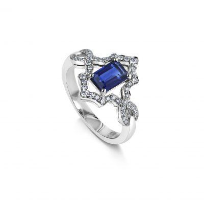 KATA Jewellery - Dalia Ring - Sapphire & Diamond