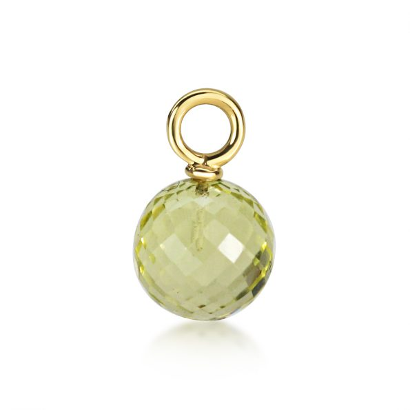 Juno Ear Pendant ~ Yellow Gold & Lemon Shimmer