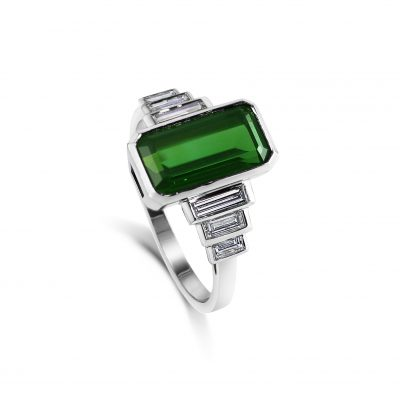 Clio ~ Tourmaline & Diamond Ring