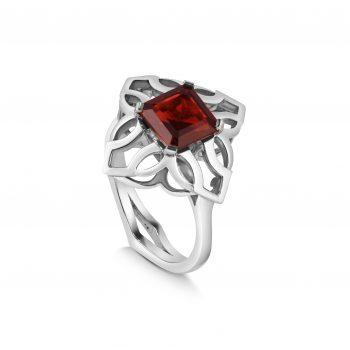 Freya Ring ~ Silver & Garnet
