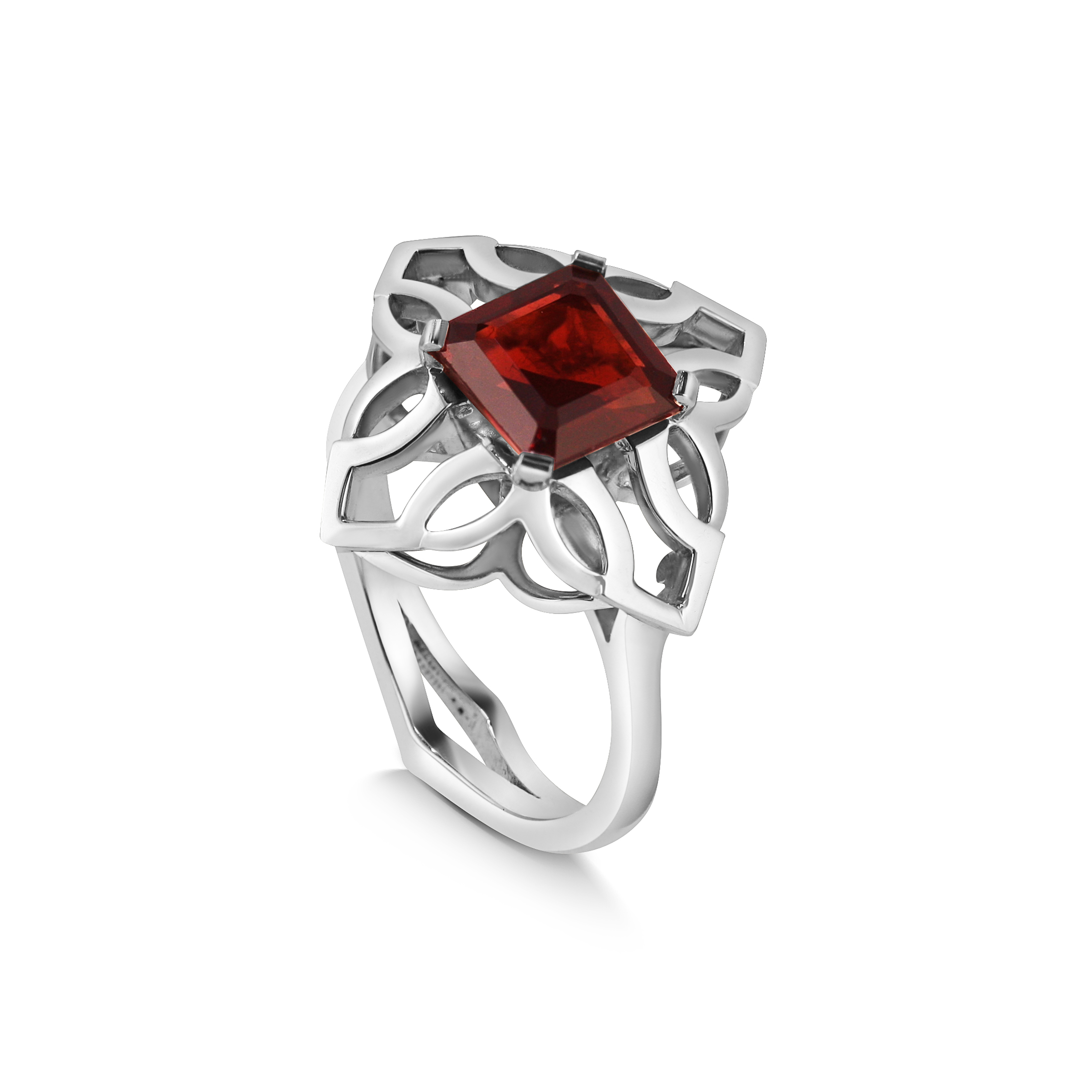 cushion product diamond garnet jewelry broome ring cut pav fine halo