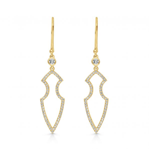 Kali Earrings ~ Adorned Gold Spear