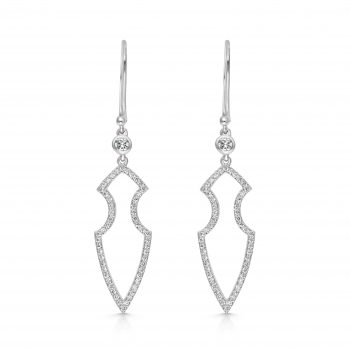 Kali Earrings ~ Adorned Ice Spear