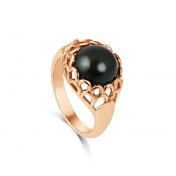 Protea Ring ~ Onyx