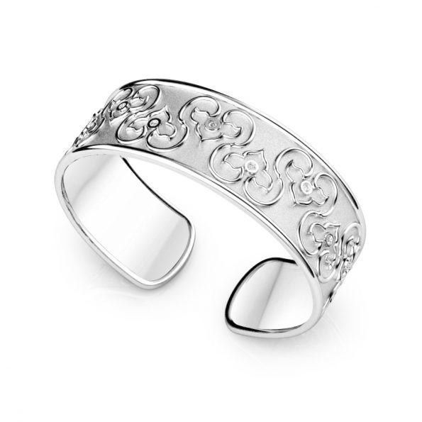 Diana Cuff ~ White Gold