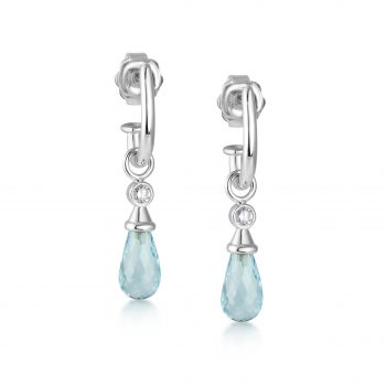 Juno Earring Set ~ Diamond & Arctic Blue
