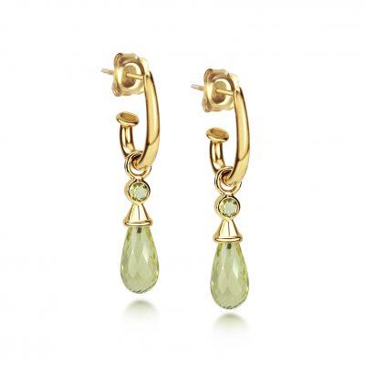 Juno Earring Set ~ Yellow Gold & Lemon Drops
