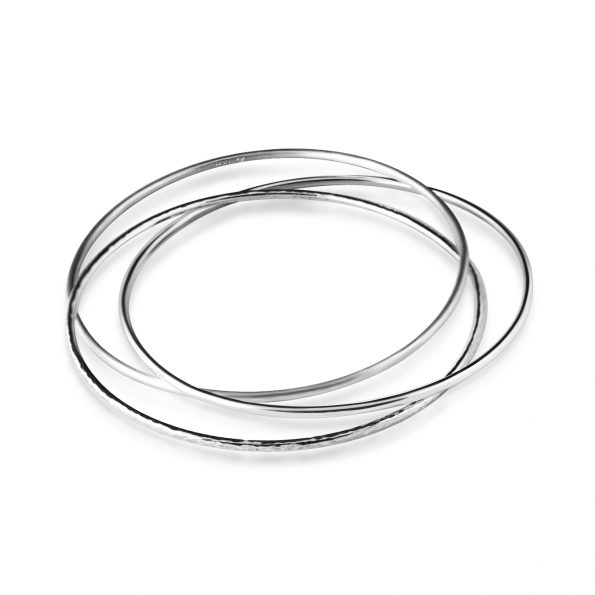 The Moirai Bangle | Sterling Silver