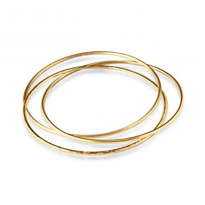 The Moirai Bangles ~ Yellow Gold