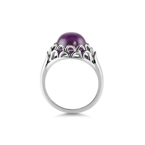 KATA Jewellery - Protea Ring ~ Amethyst
