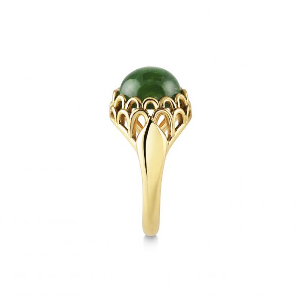 KATA Jewellery - Protea Ring ~ Green Tourmaline