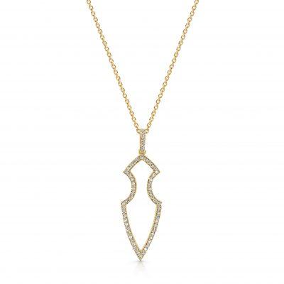 Kali Pendant ~ Adorned Diamond Spear