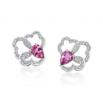 Ostara Earrings ~ Diamond White Gold or Platinum