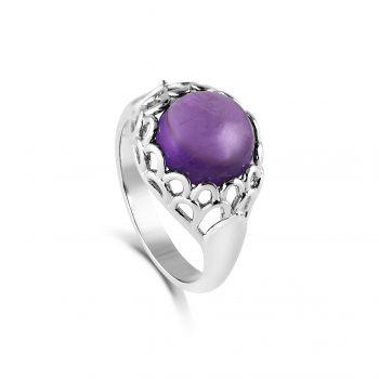 Protea Ring ~ Amethyst