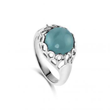 Protea Ring ~ Aquamarine