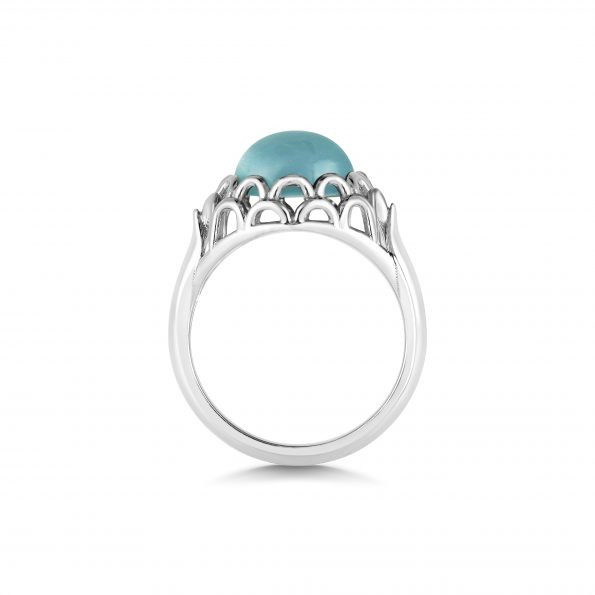 Protea Ring ~ Aquamarine