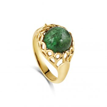 Protea Ring ~ Green Tourmaline
