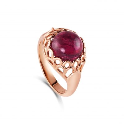 Protea Ring ~ Pink Tourmaline