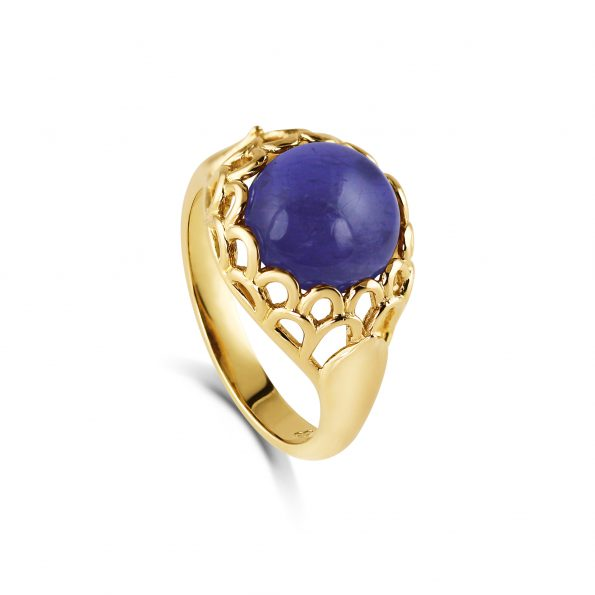 Protea Ring ~ Iolite Yellow