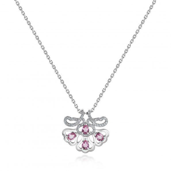 Ostara Pendant ~ Pink Sapphire & Diamonds