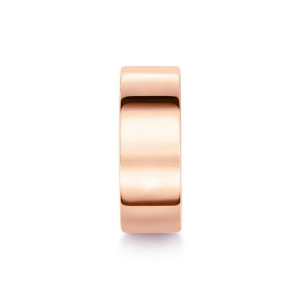 8mm Flat Wedding Band (2) ~ Rose Gold