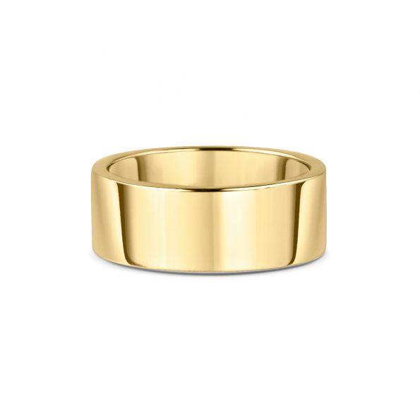 8mm Flat Wedding Band (3) ~ Yellow Gold