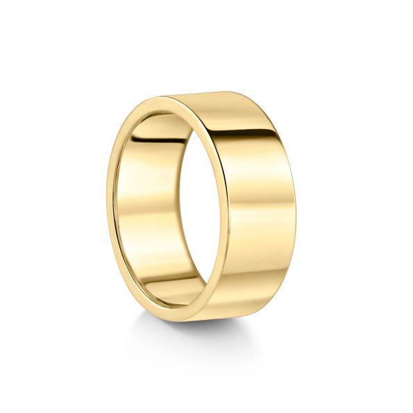 8mm Flat Wedding Band (1) ~ Yellow Gold