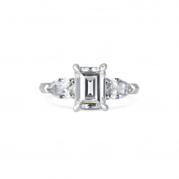 Ceres ~ Diamond Trilogy Engagement Ring