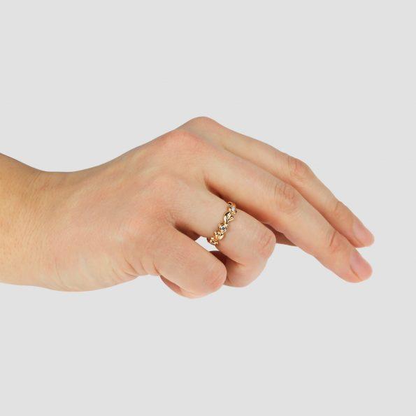 Grace Band ~ Rose Gold & Diamond Hand